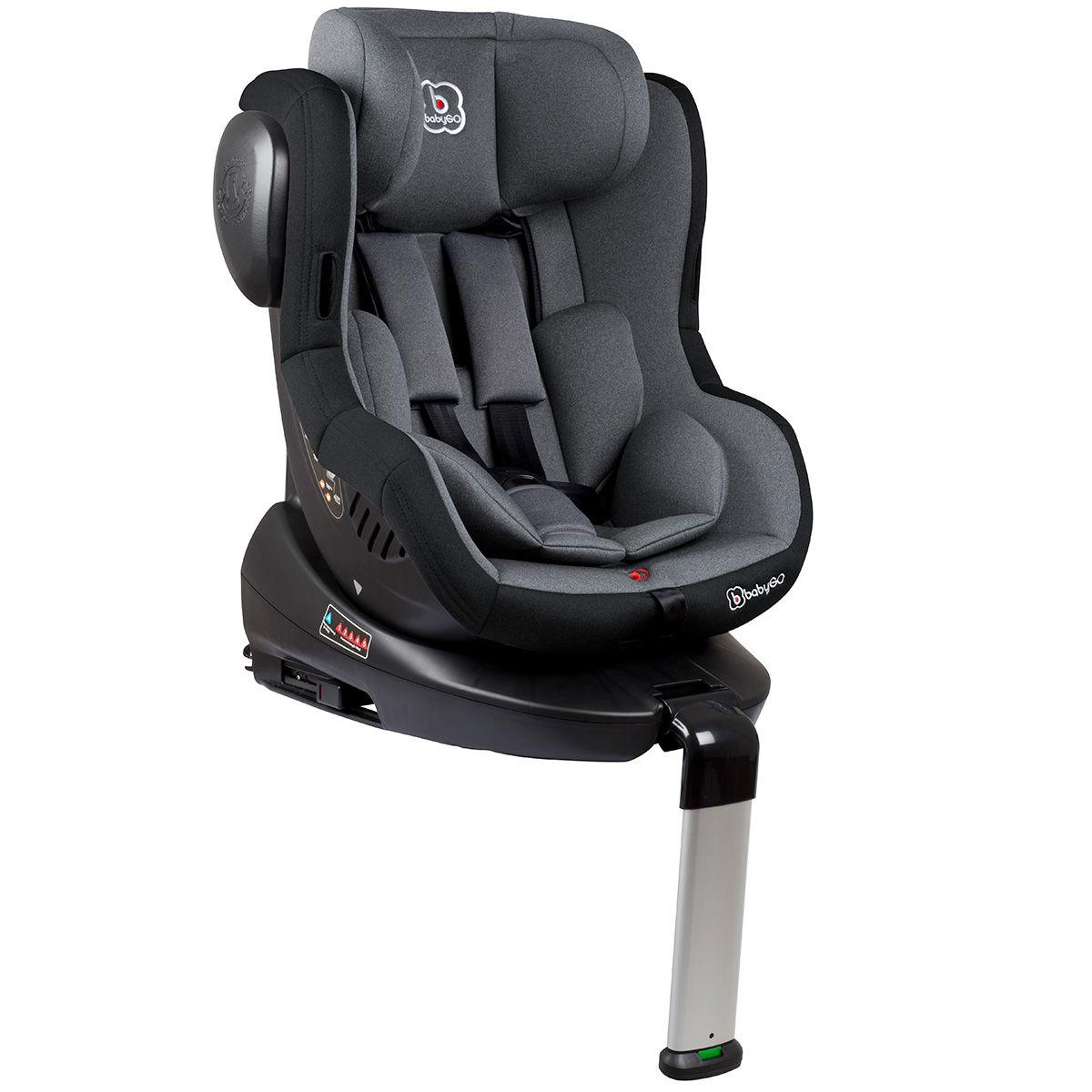 Afbeelding van Autostoel BabyGO Iso 360 met Isofix Grijs (0-18kg)