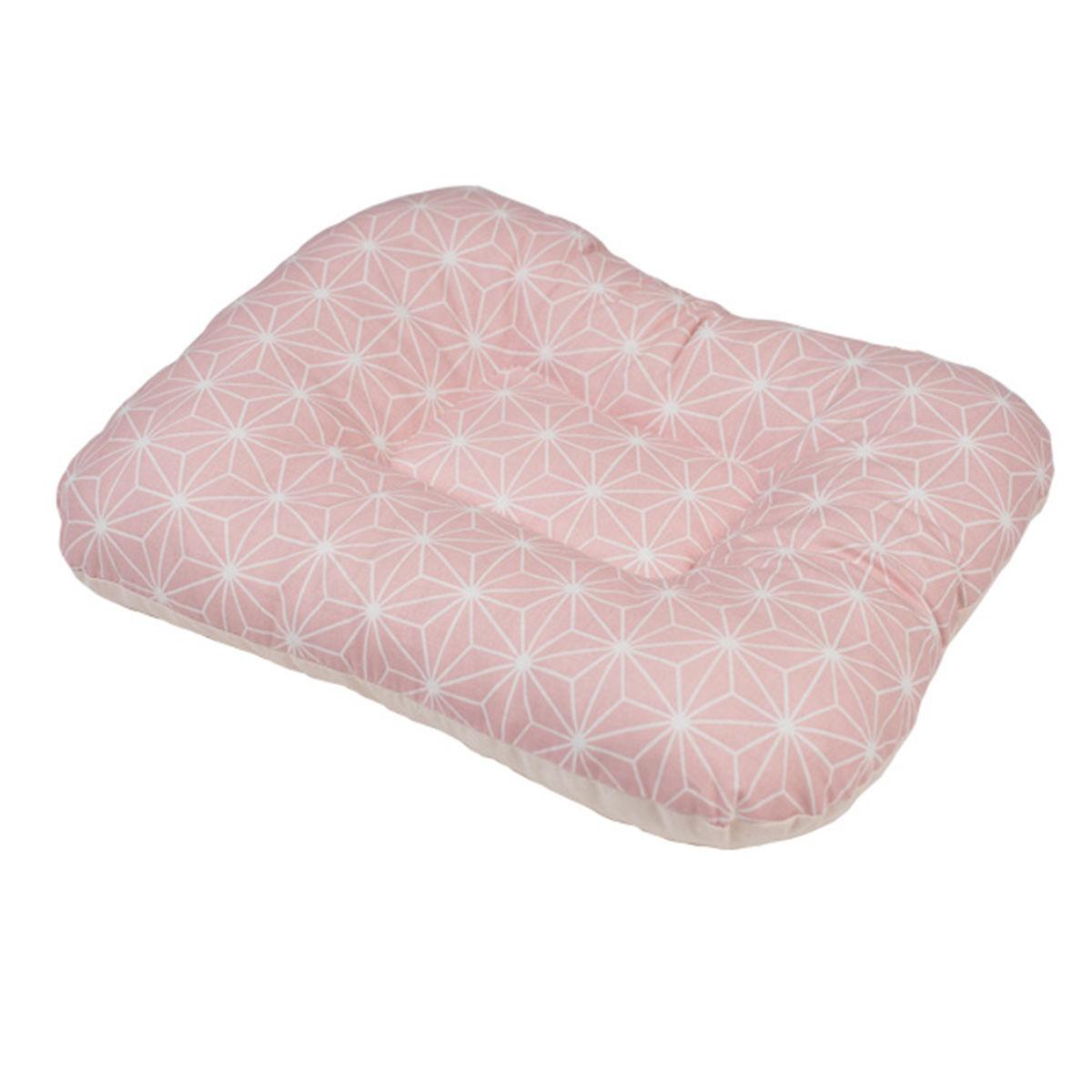 Afbeelding van Arm Voedingskussen Bubaba Pink Snowflakes (28x33cm)