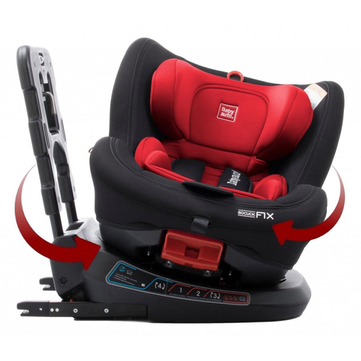 Afbeelding van Autostoel Babyauto Biro 360° met Isofix Red (0-25kg)