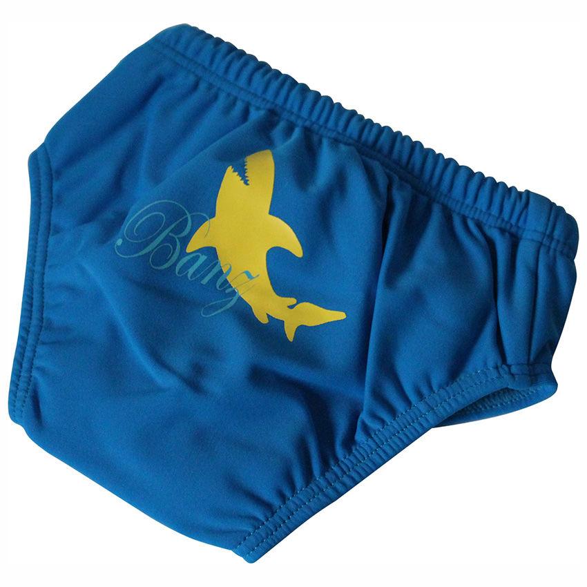 Afbeelding van BabyBanz Zwem luier Blauw met gele haai M (6-12 mnd)