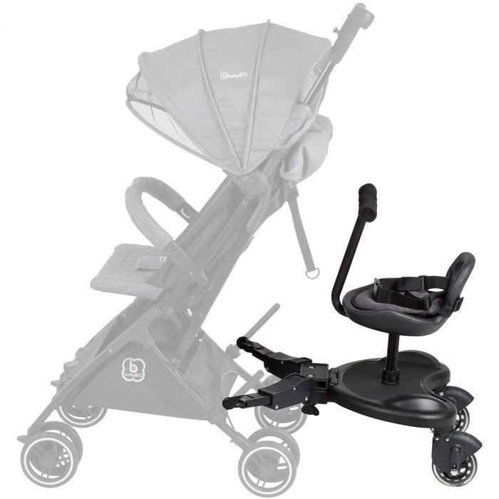 Uitgelezene BabyGO WeGo Buggyboard met zitje - Meerijdplankje   Baby & Koter RT-96