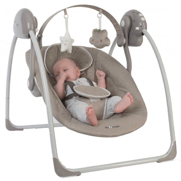 Tiamo Meegroeistoel Taupe.Bo Jungle B Portable Babyswing Babyschommel Taupe Baby Koter