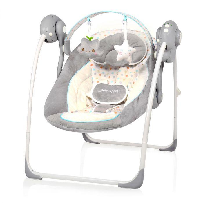 Baby Schommelstoel Automatisch.Baby Swing Little World Dreamday Dots