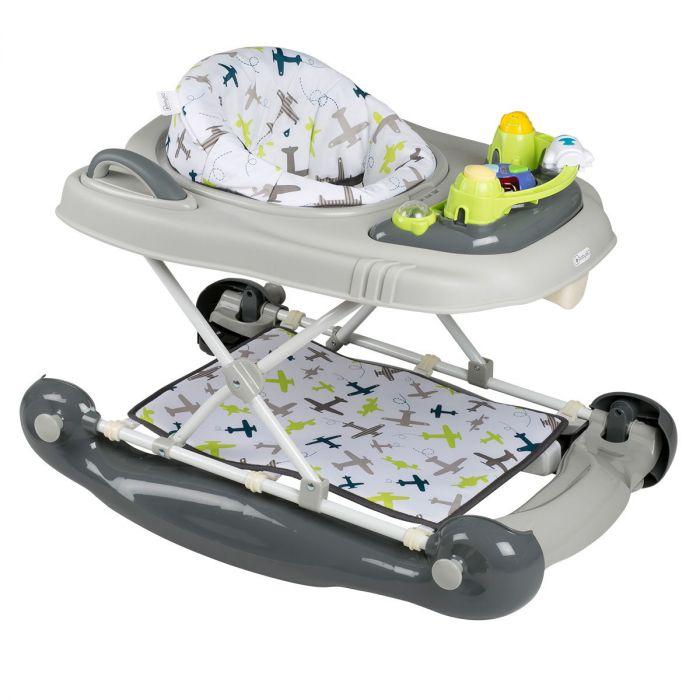 Baby Schommel Bed.Loopstoel Babygo 4 In 1 Groen Met Schommel Duwfunctie Baby Koter