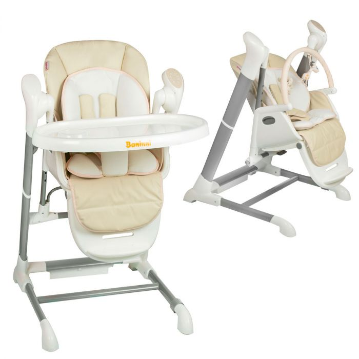 Kinderstoel Baby 6 Maanden.Kinderstoel Swing Baninni Ugo Beige Baby Koter