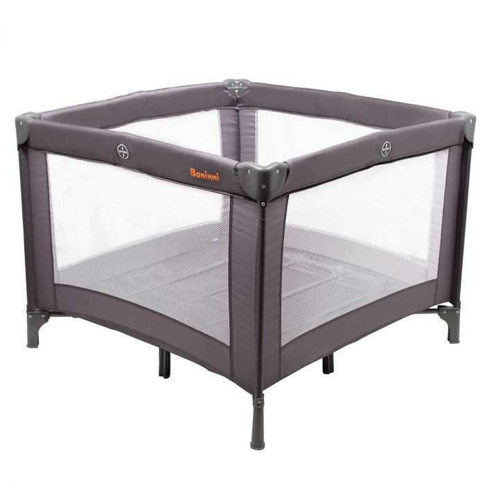 Makkelijk Inklapbaar Campingbedje.Campingbed En Box Inklapbaar Baninni Venezia Luxe Set Gray Baby