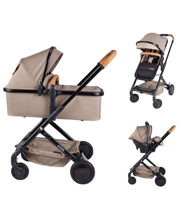 Tiamo Meegroeistoel Taupe.X Adventure Kinderwagens Voordelig Snel Geleverd Baby