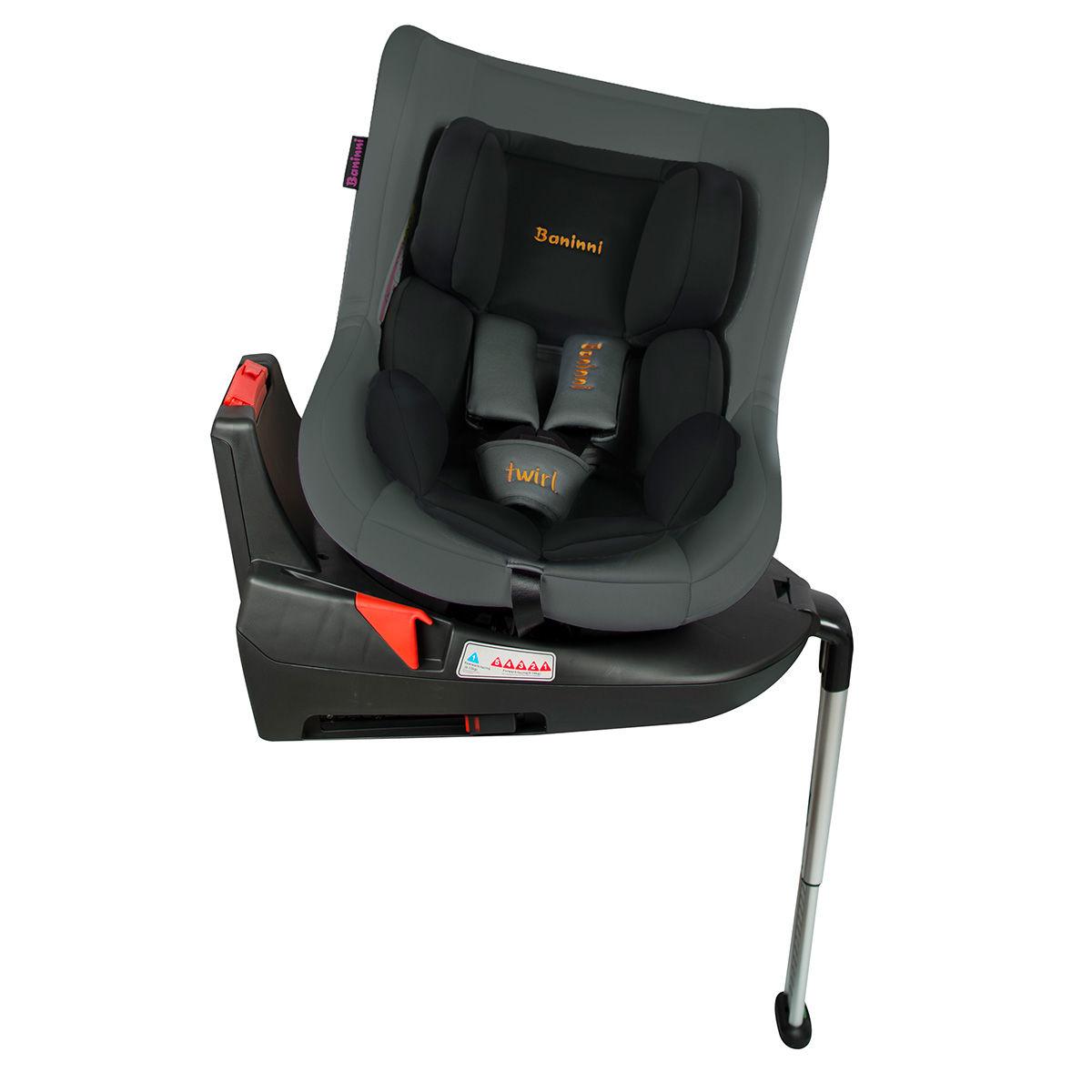 Afbeelding van Autostoel Baninni Twirl 360 met Isofix Black-Gray (0-18kg)