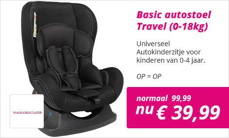 autostoel travel zwart